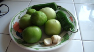 Ingredients for Salsa Verde